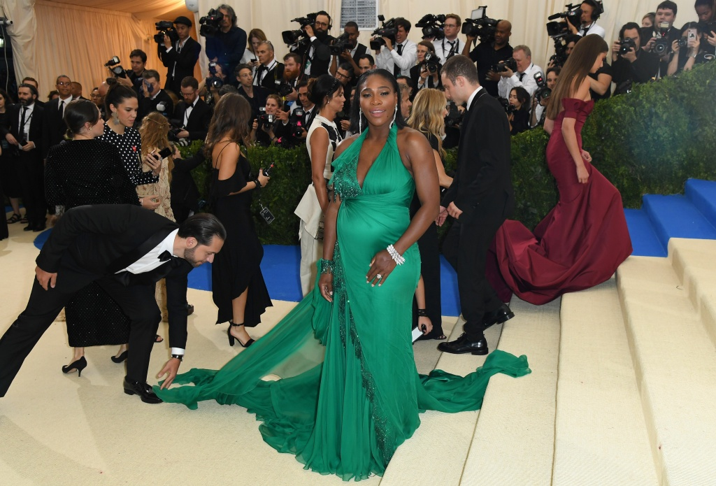 Serena Williams arrives at the Costume Institute Benefit May 1, 2017 at the Metropolitan Museum of Art in New York.