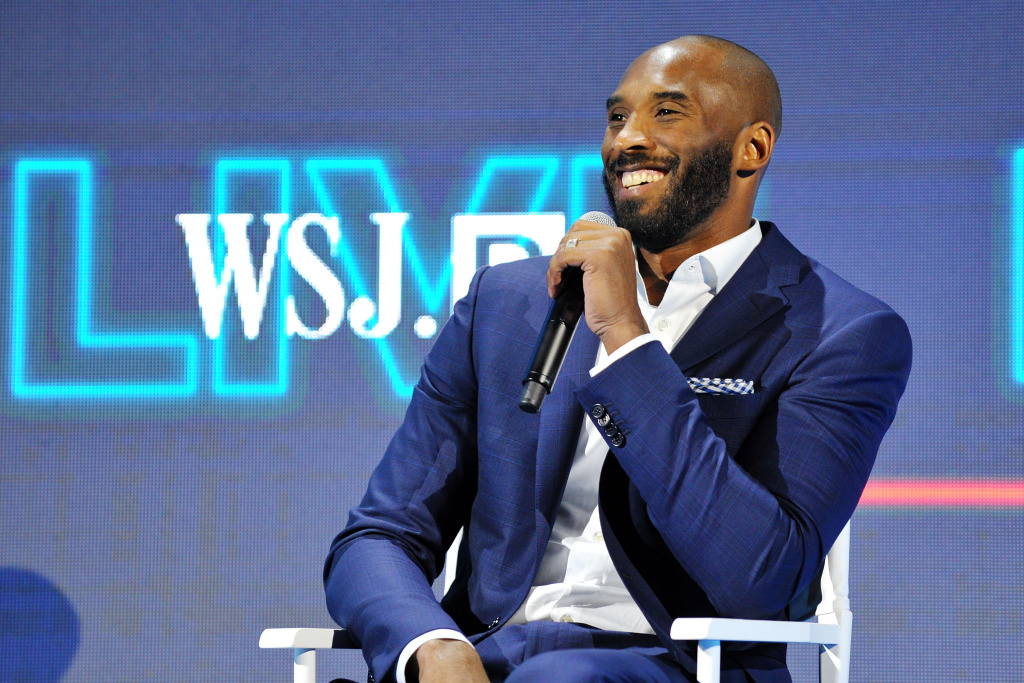 LAGUNA BEACH, CA - OCTOBER 25:  Kobe Bryant speaks on stage at WSJ.D LIVE After Dark at Montage Laguna Beach on October 25, 2016 in Laguna Beach, California.  (Photo by Jerod Harris/Getty Images for Dow Jones)
