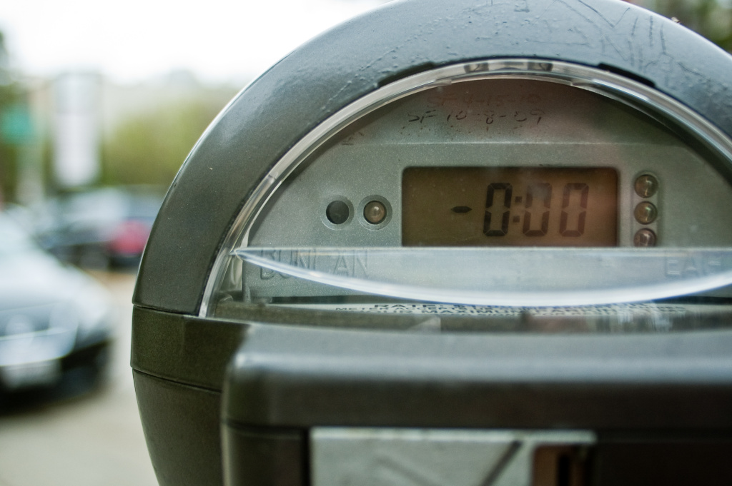 Parking meter in Los Angeles.