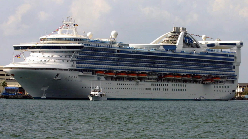 At least 100 people aboard the Grand Princess cruise ship will be tested for the coronavirus that causes COVID-19 after a former passenger died from the disease this week. The ship is seen here in a photo from 2001.