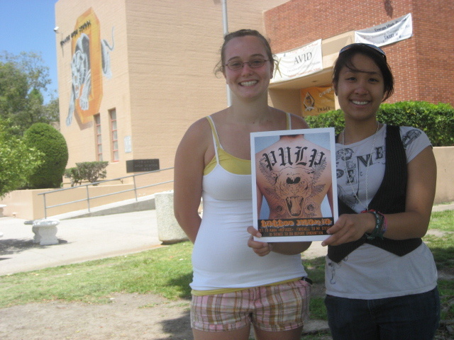 Orange High School students Angela Kapiloff and Lynn Lai allege the school's principal unlawfully censored their magazine.