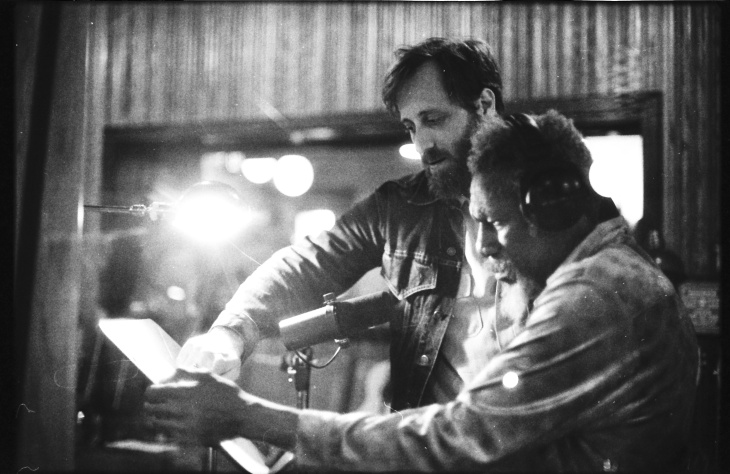 Dan Auerbach, left, and Robert Finley, one of the artists on Auerbach's label, Easy Eye Sound.