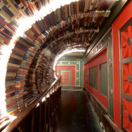 Book tunnel at the Last Bookstore.
