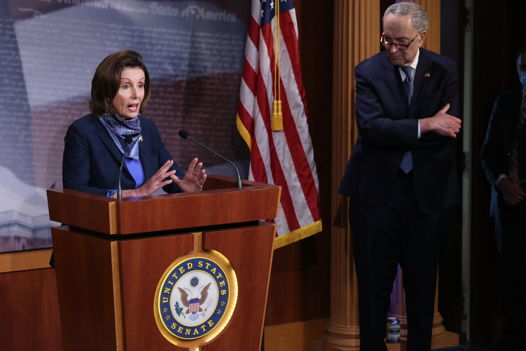House Speaker Nancy Pelosi and Senate minority leader Chuck Schumer have sent FBI Director Chris Wray a letter asking for a briefing about alleged foreign interference efforts in this year's election.