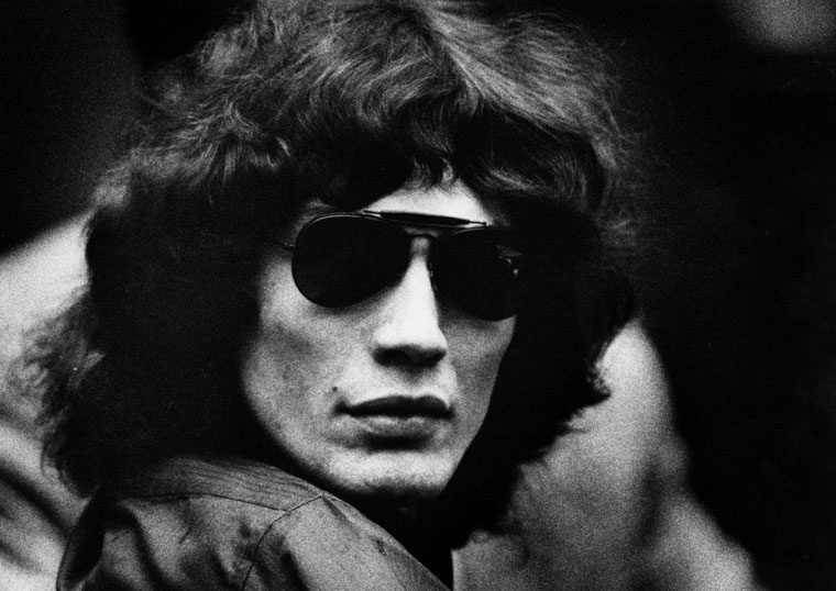 Night Stalker defendant Richard Ramirez in court on July 13, 1989, clad in black and wearing trademark sunglasses.