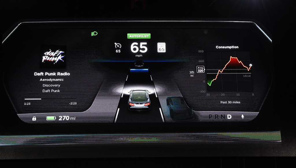 The new dashboard of Tesla
