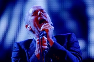 Michael Stipe of REM performs in New Orleans, Louisiana.
