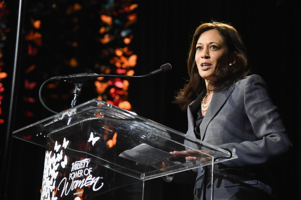 California Attorney General Kamala Harris speaks onstage at the 2014 Variety Power of Women presented by Lifetime at Beverly Wilshire Four Seasons on October 10, 2014 in Los Angeles, California.