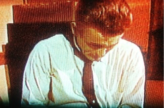 Screenshot of James Dean in Rebel Without a Cause.