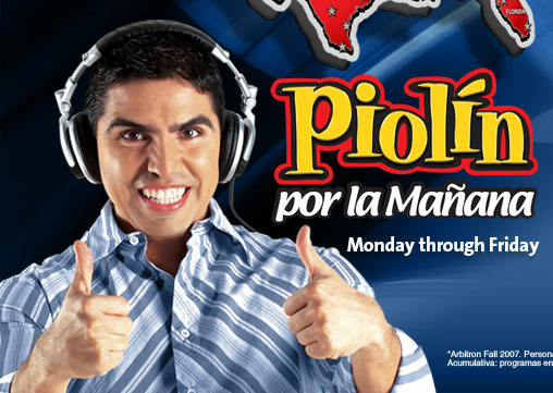 "Eddie ""Piolín"" Sotelo the host of the daily Spanish language morning radio show,  ""Piolín por la Mañana."""