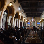 Members of the Los Angeles City Council's Ad Hoc Committee meet before offering its support to bring the 2024 Summer Olympics to Los Angeles, California on August 28, 2015