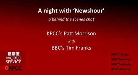 A night with 'Newshour' — a behind-the-scenes chat with BBC's Tim Franks