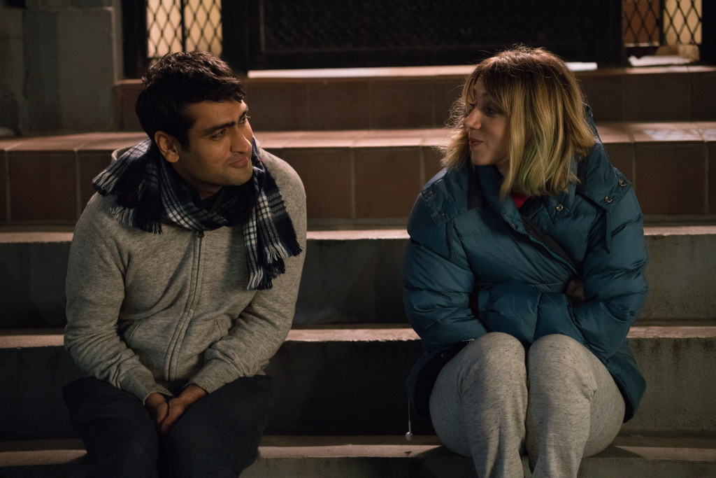 Actor Kumail Nanjiani and actor Zoe Kazan in