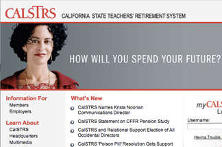 CalSTRS homepage