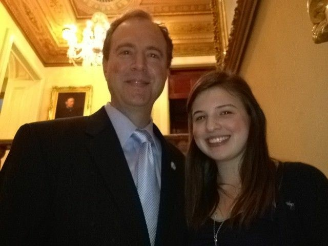 Congressman Adam Schiff and his daughter Alexa.