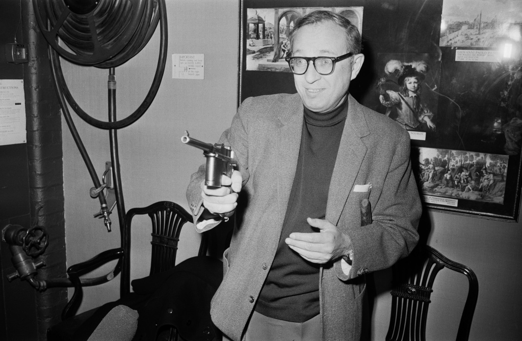 American screenwriter and film producer Carl Foreman (1914 - 1984), writer of film