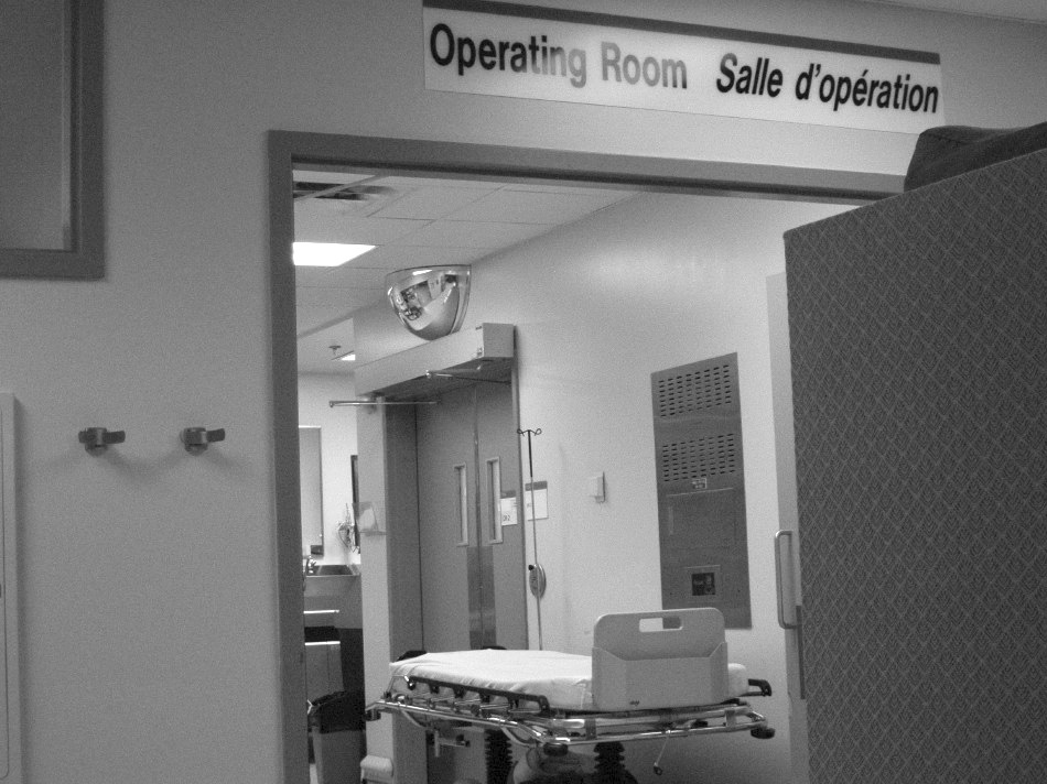 Entrance to an operating room