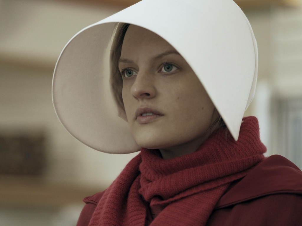<em>The Handmaid's Tale</em>, starring Elisabeth Moss, coincided with a spike in new subscribers to Hulu, one of an increasing number of video streaming platforms.