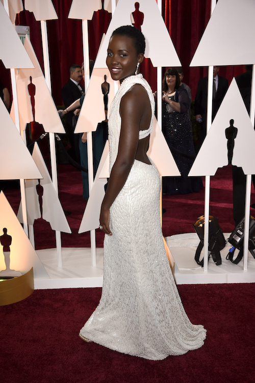 Actress Lupita Nyong'o attends the 87th Annual Academy Awards at Hollywood & Highland Center on February 22, 2015 in Hollywood, California.