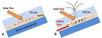 Martian Debris Flows