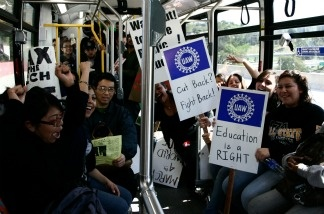 CSU students protest cuts.