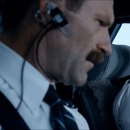 "Aaron Eckhart, left, and Tom Hanks in a scene from the new film, ""Sully."""