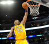 Kobe Bryant of the Los Angeles Lakers dunks the ball at Staples Center on January 19, 2009