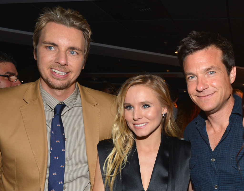 Actors Dax Shepard, Kristen Bell and Jason Bateman attend the after party for the premiere of Open Road Films'