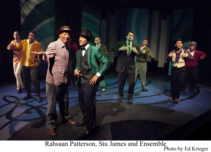 Stu James (center, in green jacket) plays John Dolphin in