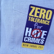 Echo Park hate crime sticker