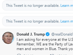 Twitter on Wednesday removed three of President Trump's tweets over violations of its policies and warned that Trump's account could be kicked off the platform if he continues to break the rules.