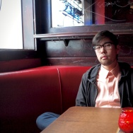 LA Downtown News writer Eddie Kim at Bar 107 in downtown Los Angeles.