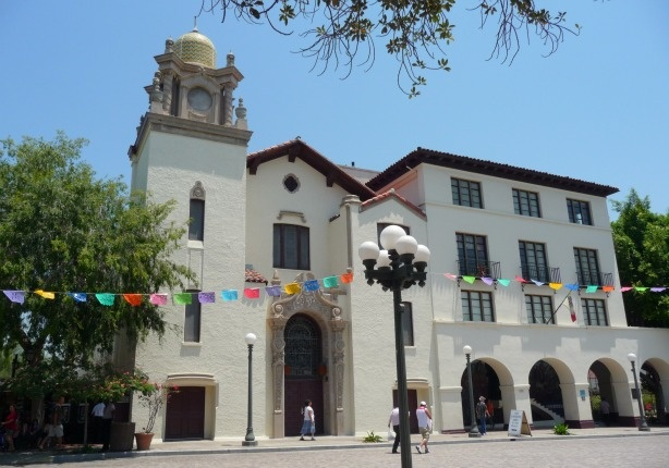 La Plaza United Methodist Church on Olvera Street in Downtown Los Angeles. Church supporters are protesting increases in rent and fees placed on them by the city.