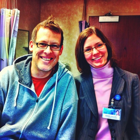 James Rabe and one of his follow-up physicians, Mayo nephrologist Dr Elizabeth Lorenz
