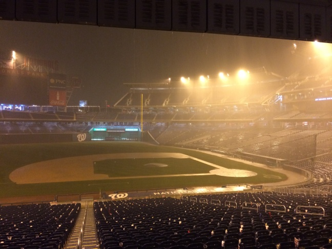 A rainy end to the Congressional Baseball game