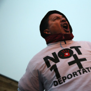 Immigrant Rights Advocates Protest At Elizabeth Detention Center