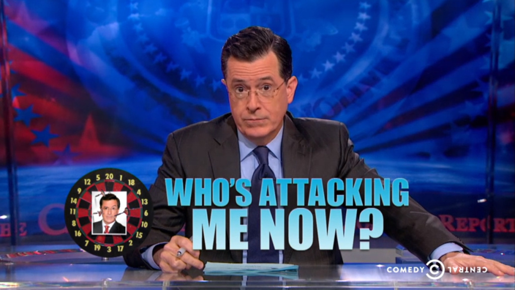 Stephen Colbert responded to criticism about a tweet about his show from his TV network Monday, saying he would dismantle the imaginary foundation that created the stir.