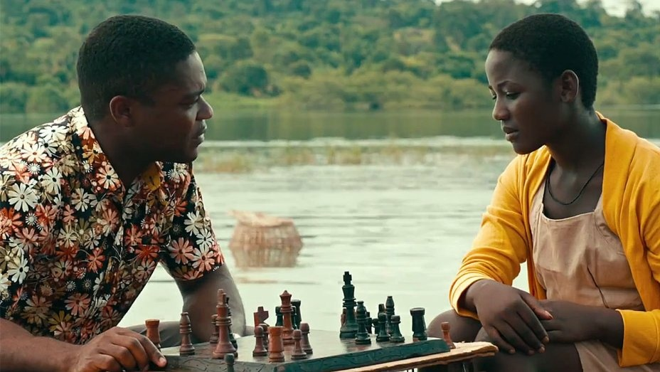David Oyelowo and Madina Nalwanga in a scene from