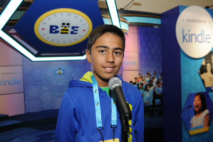 Contestants in the 2016 Scripps National Spelling Bee take the multiple choice spelling and vocabulary test on Tuesday, May 24, the first day of the competition.