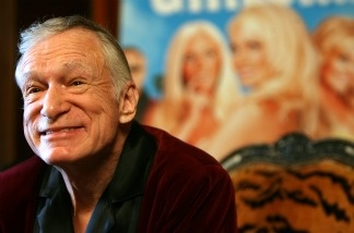 US Playboy Magazine publisher Hugh Hefner speaks during a press conference at the Palyboy Mansion in Beverly Hills to introduce the new season of his TV show 'Girls of the Playboy Mansion' on E! Entertainment