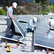 solar panel installation - North Hollywood apartment complex - feed-in tariff program