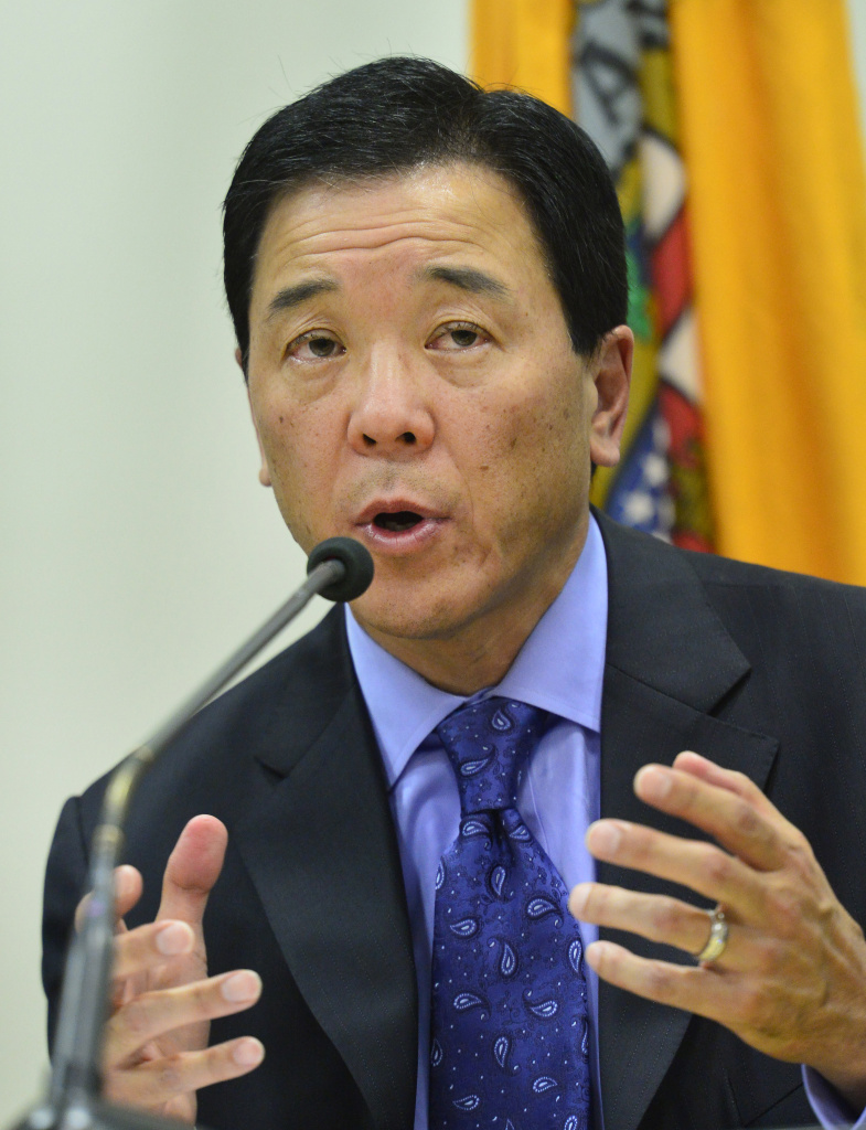 Former Los Angeles County Undersheriff Paul Tanaka on the campaign trail in 2014 for Sheriff. He now faces federal charges of obstruction of justice.
