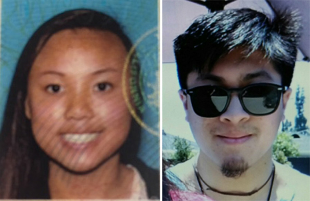 Missing hikers Rachel Nguyen and Joseph Orbeso.