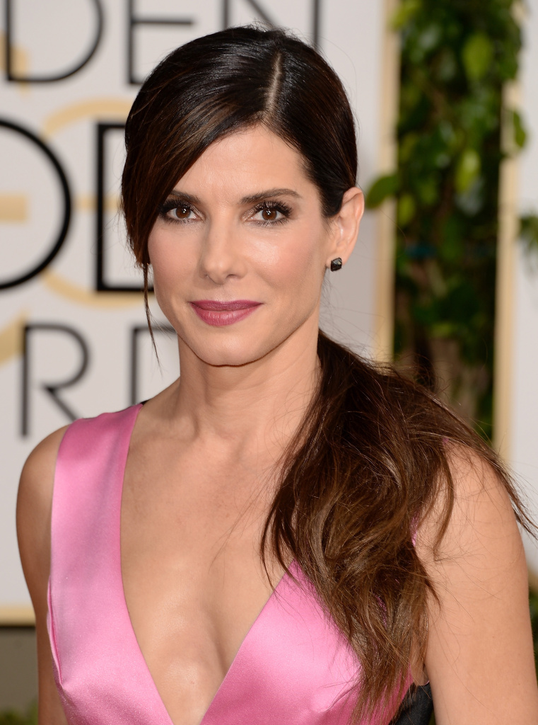 Actress Sandra Bullock attends the 71st Annual Golden Globe Awards held at The Beverly Hilton Hotel on January 12, 2014 in Beverly Hills, California.