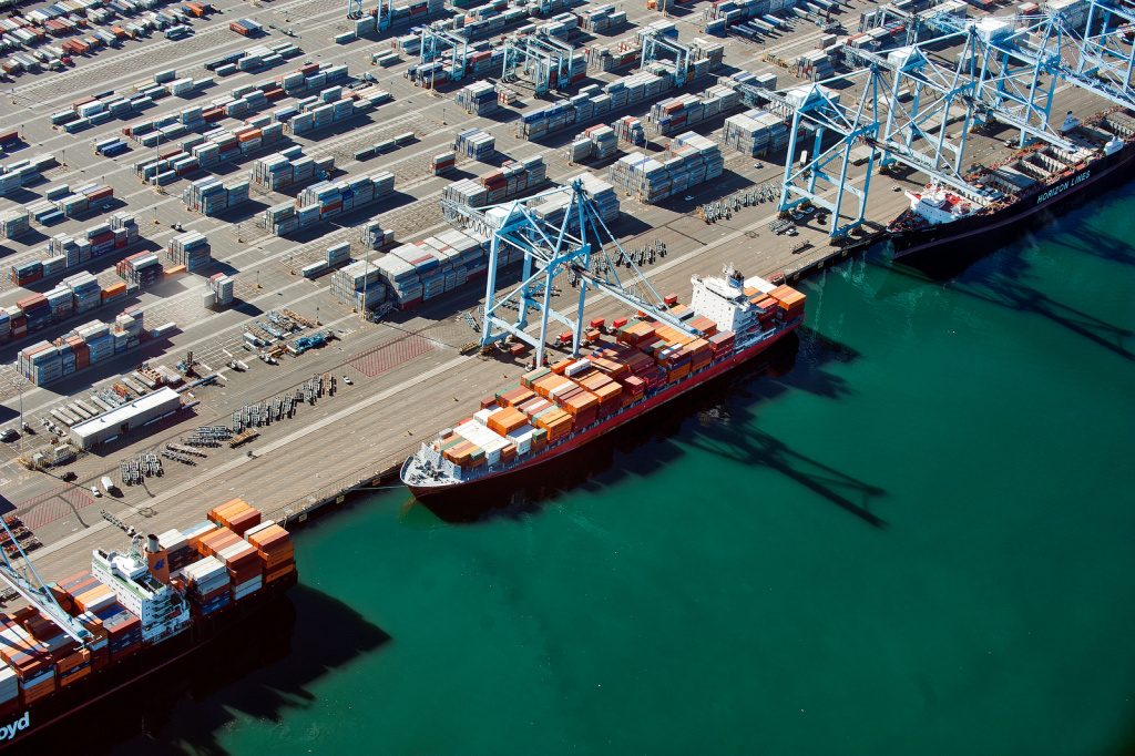 Cargo carriers at the Port of Long Beach.