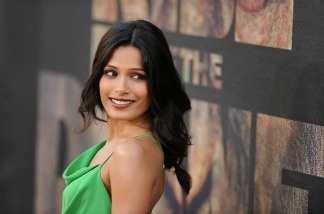 Actress Freida Pinto arrives at the Los Angeles premiere of 'Rise of the Planet of the Apes' at the Grauman's Chinese Theatre in Hollywood, California July 28, 2011.