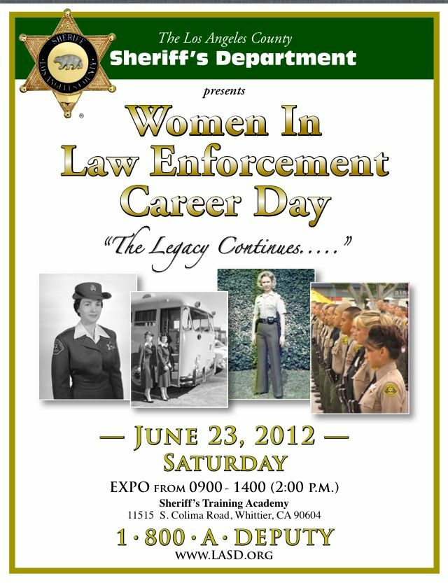 Los Angeles Sheriff's Department women career