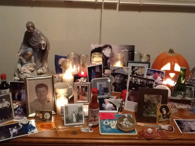 Laura Esqueda and her brother, San Fernando artist Rick Ortega, created this altar for her son, Luis Andres.