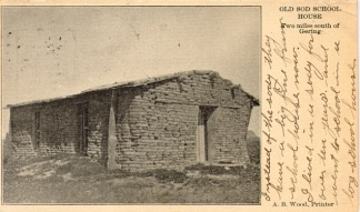 Sod house. Gering, Scotts Bluff County, Nebraska