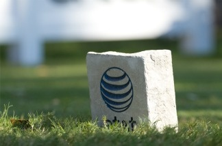 An AT&T tee marker.